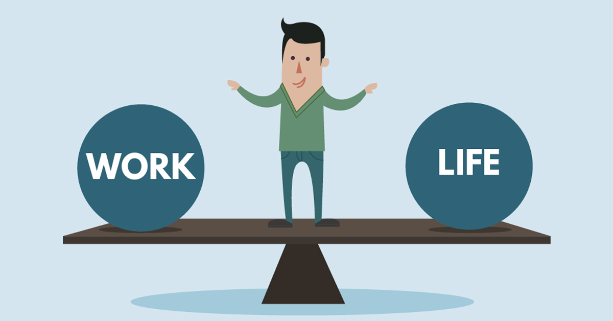 Work-Life-Balance-illustration-cooffiz-co-office-coworking-in-delhi